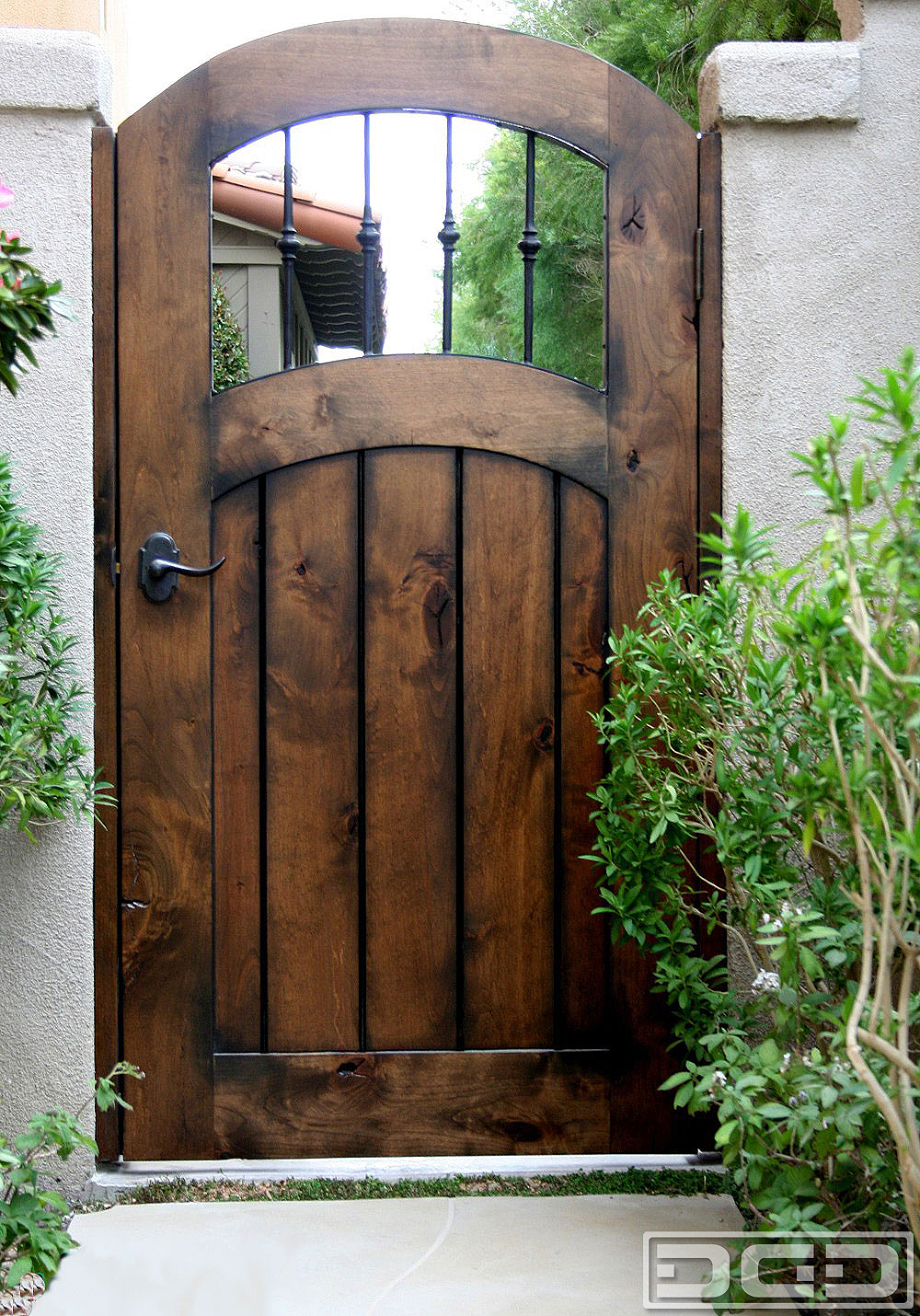 Architectural gates 12 custom designer pedestrian gate for Garden gate designs wood rustic