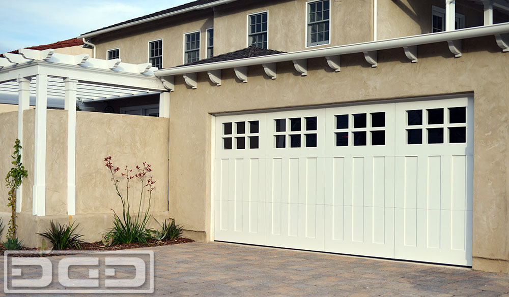 Coastal cottage 08 custom architectural garage door for Garage doors styles