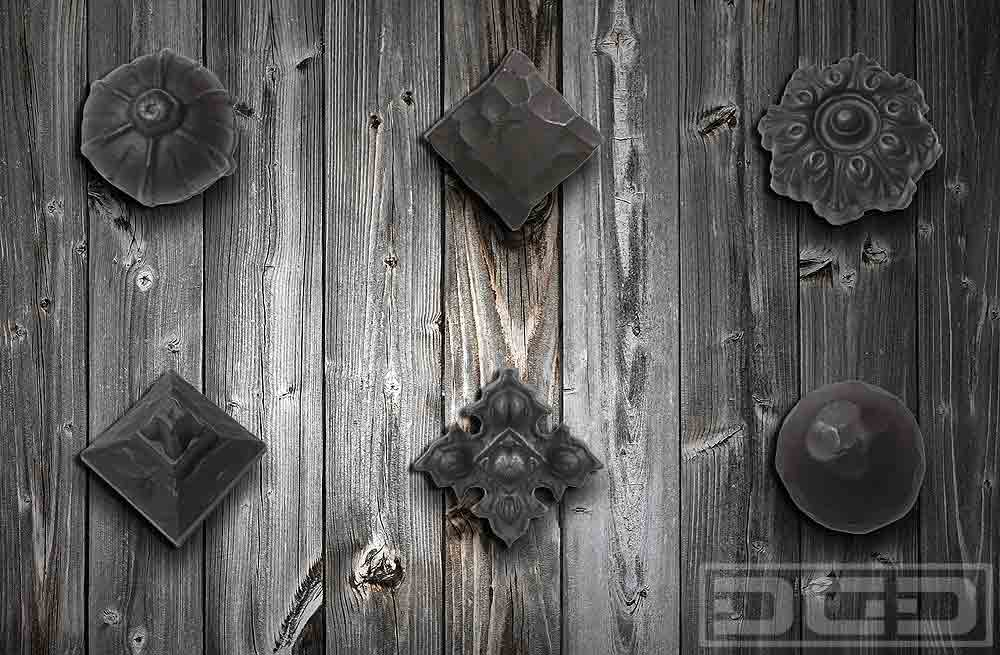 04 Rustic Iron Clavos Amp Rosettes Dynamic Garage Door