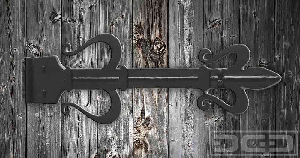 08 | Heavily Ornate Iron-Forged Hinge