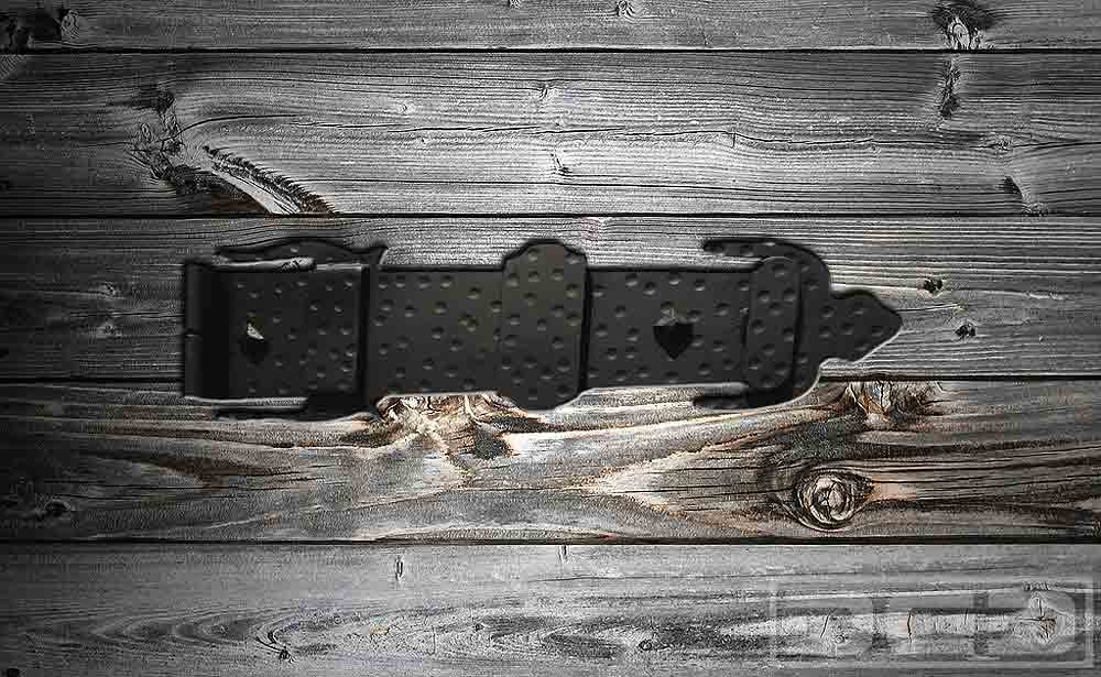 16 | Iron-Forged Hinge & Hammered Distressing