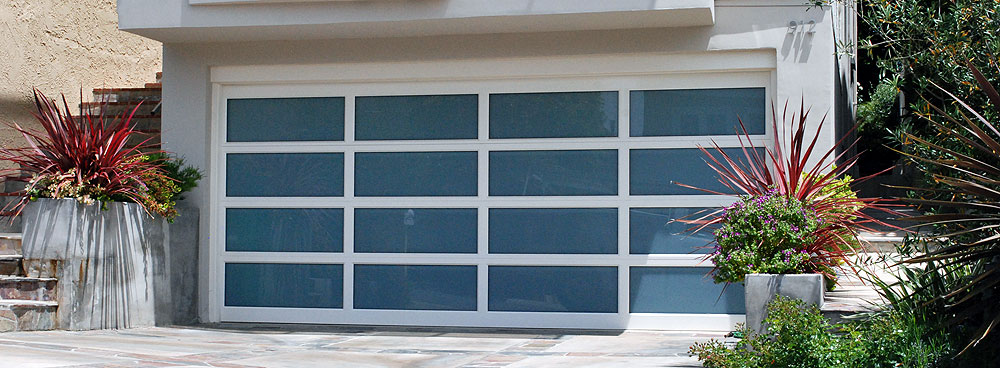 Contemporary Glass Garage Doors