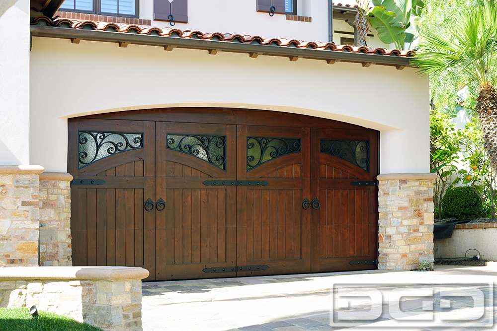 French campestral 11 custom architectural garage door for Mediterranean style entry doors