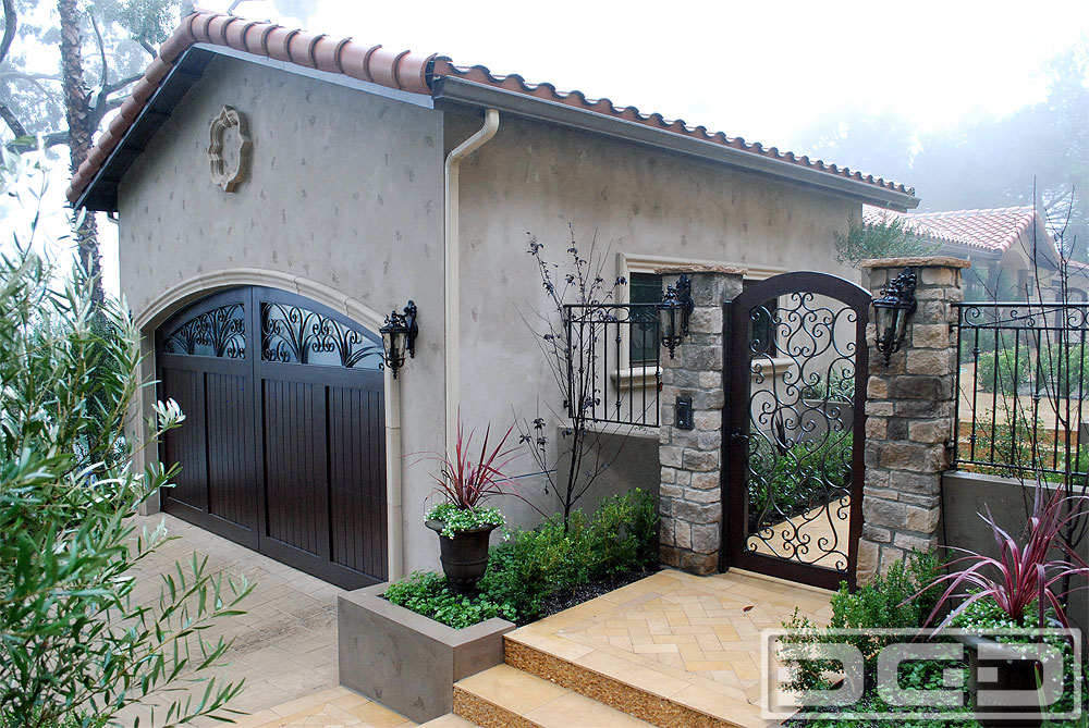 Mediterranean Revival 04 Custom Architectural Garage
